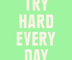 quote, try, and motivation image