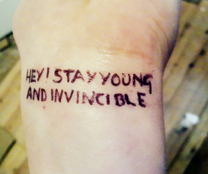 oasis, tatoo, and stay young image