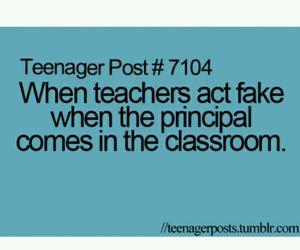 teenager post, fake, and school image