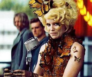 catching fire, hunger games, and effie trinket image
