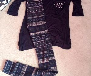 aztec, black, and fashion image