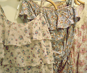 clothes, floral, and dresses image