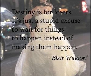 blair waldorf, gossip girl, and destiny image