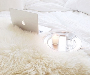 apple, bed, and white image