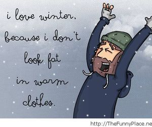 funny, winter, and fat image
