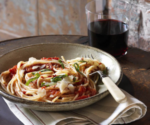 red wine, parmesan, and food image