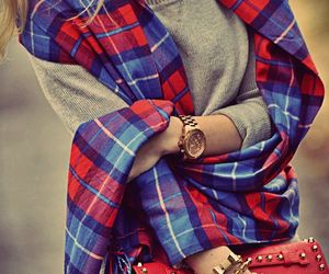 fashion, scarf, and red image