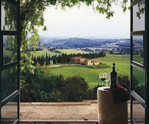 wine, italy, and nature image