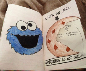 cookie monster, love, and Cookies image