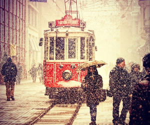 istanbul, snow, and beautiful image