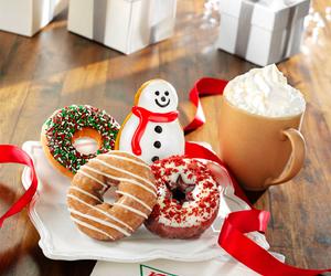 food, christmas, and donuts image