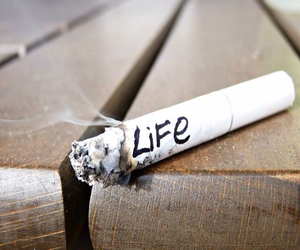 life, smoke, and cigarette image