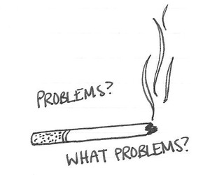 cigarette, problem, and smoke image
