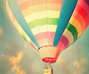 sky, balloons, and colorful image