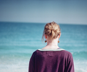 35mm, girl, and beach image