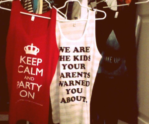 shirt, keep calm, and party image