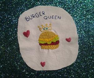 burger, love, and food image