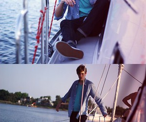 beach, style, and boat image