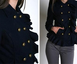 buttons, fashion, and jacket image