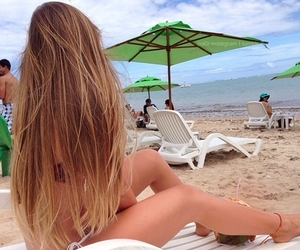 beach, blonde, and longhair image