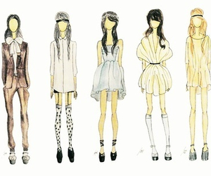 fashion, clothes, and drawing image