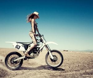 bike, girl, and motorcycle image