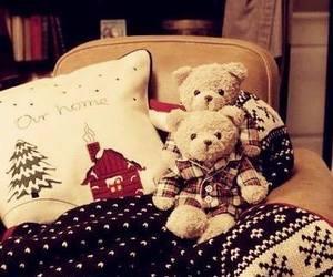 christmas, teddy, and bear image