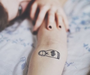girl, tattoo, and mini tattoo image
