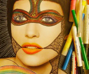 art, inspiration, and make up image