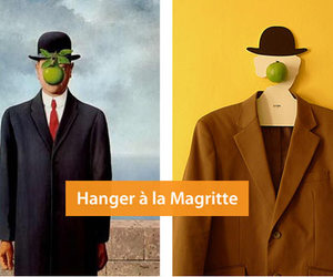 apple, hanger, and magritte image