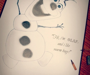 olaf, frozen, and art image