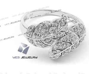 leaf, ring, and silver image