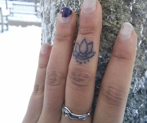 hand, tattoo, and poke image