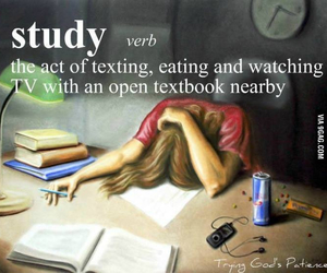 study, funny, and quote image