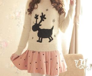 girl, sweater, and christmas image