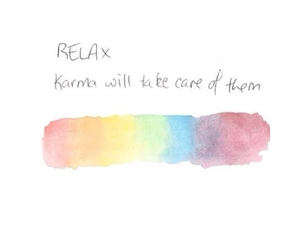 karma, quote, and relax image