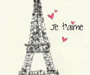 paris, je t'aime, and france image