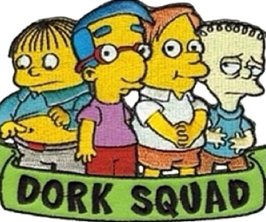 simpsons, dork, and dork squad image
