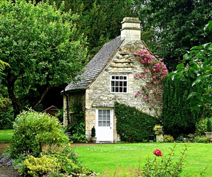 cottage, house, and garden image