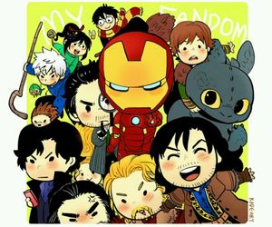 harry potter, jack frost, and iron man image