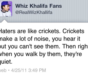 quote, wiz khalifa, and haters image