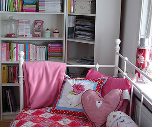 bed, ikea, and pink image
