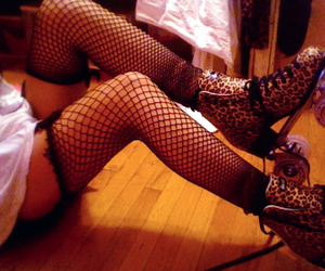 fishnets, legs, and separate with comma image