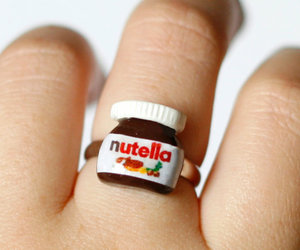 nutella, ring, and chocolate image