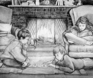 art, bw, and hermione granger image