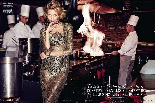 model, top model, and Vanity Fair image
