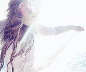 girl, hair, and light image