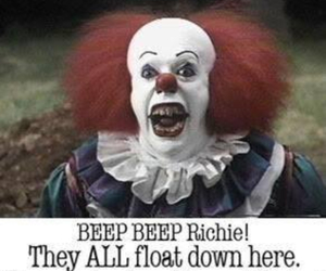 clown, fear, and it image
