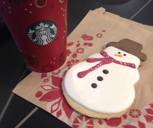 christmas, biscuits, and snowman image