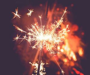 bright, colourful, and sparklers image